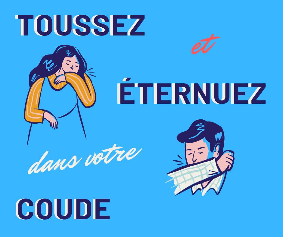 Publication Facebook COVID-19 illustrée bleu et rose